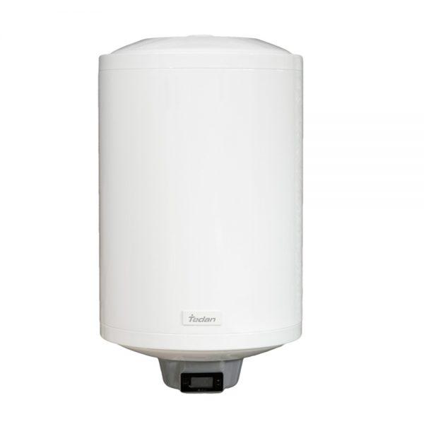 """* Водосъдържател от висококачествена въглеродна стомана с марка ЕN1.4404 (316L) с дебелина от 1,5 мм до 2,0 мм, изпитан на 12 Bar налягане. ** Водосъдържател от висококачествена стомана с марка DC04EK и дебелина от 1,8 мм до 2,2 мм, изпитан на 12 Bar налягане. • Цифров електронен термостат с дигитален панел за управление, прецизно управлява бойлера с точност до +/- 0,1 оС и осигурява постоянна температура. • Самопрограмиращ се термостат • Термостат със защита против замръзване (произведен от Thermowatt – Италия) и максимална работна температура от 75°С. • Термоизолация от безфреонов пенополиуретан с дебелина от 25 до 49 мм. • Трикомпонентен магнезиев анод с до 50% по- дълъг живот, който има възможност за демонтаж и последваща подмяна. • Фланец със специална конструкция за постигане на по-висока нaдеждност и сигурност на уреда. • Клас на защита на водонагревателя IP: X4. • Диаметър на тръбите (ВИК) 1/2"""". • Проектиран и произведен в Италия."""